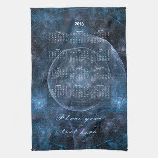 Cosmos Background 001 - Calendar 2018 Tea Towel