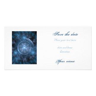 Cosmos Background 001 Customized Photo Card