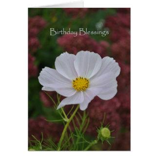 Cosmos Birthday Blessings Card
