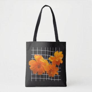 Cosmos Charm Black Tote Bag