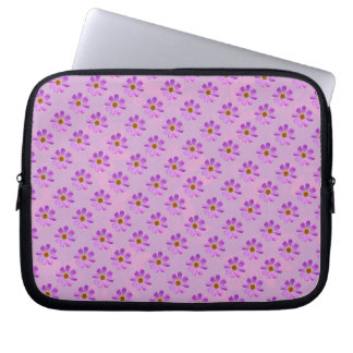 Cosmos Flowers with pink background Laptop Computer Sleeves