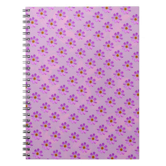 Cosmos Flowers with pink background Note Book