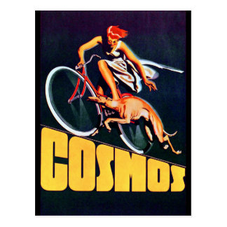 Cosmos Greyhound Bicycle Postcard
