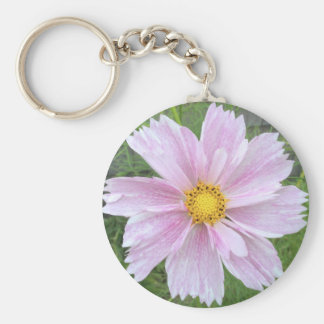 Cosmos - Palest of Pinks --- Basic Round Button Key Ring