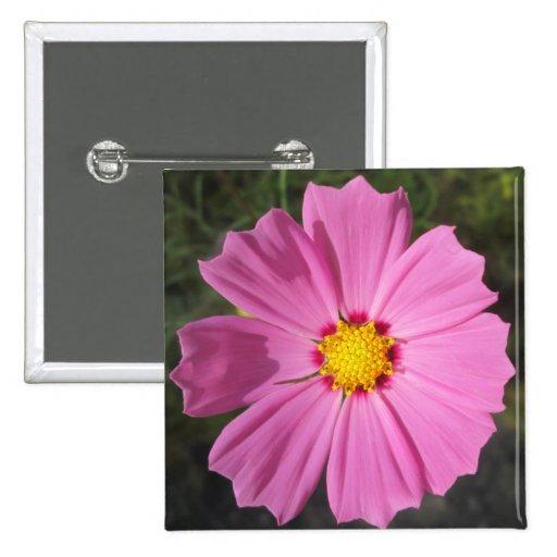 Cosmos Pink Flower Pins