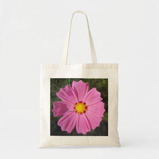 Cosmos Pink Flower Bags