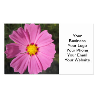 Cosmos Pink Flower Business Cards