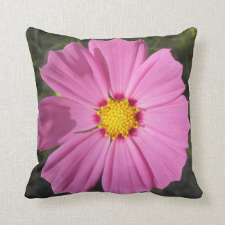Cosmos Pink Flower Throw Pillows