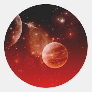 cosmos, round sticker