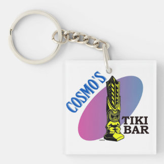 Cosmo's Tiki Bar Single-Sided Square Acrylic Key Ring
