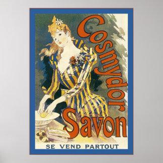 Cosmydor Savon Vintage French Advertising Print