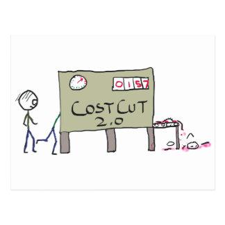 Cost Cutting Postcard