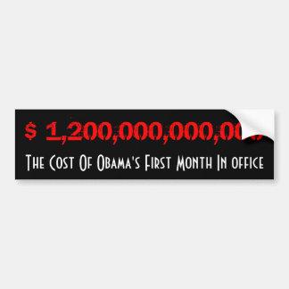 Cost Of Obama Bumper Sticker