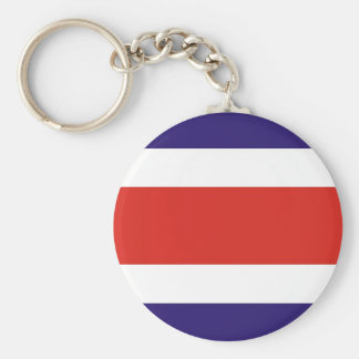 Costa Rica Basic Round Button Key Ring