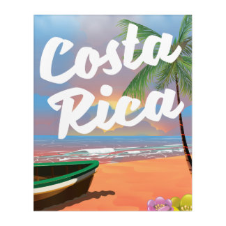 Costa Rica Beach travel poster Acrylic Wall Art