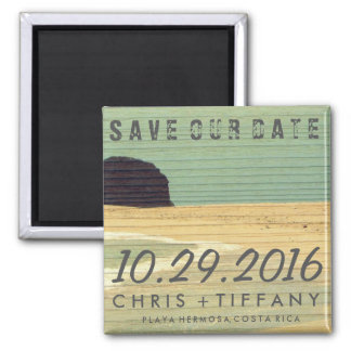 Costa Rica Beach Wedding Save the Date Magnet