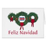 Costa Rica Christmas 2 Greeting Card