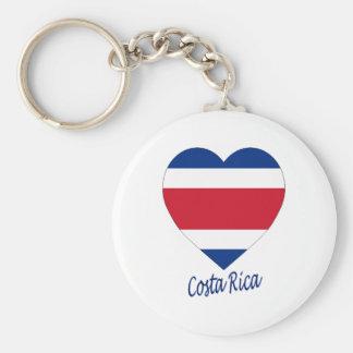 Costa Rica civil Flag Heart Keychains