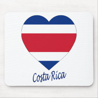 Costa Rica (civil) Flag Heart Mouse Pad