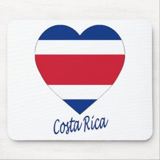 Costa Rica civil Flag Heart Mouse Mats