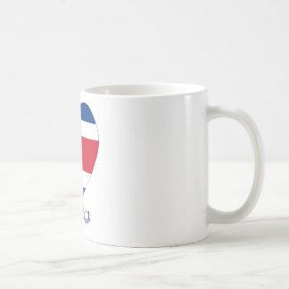Costa Rica (civil) Flag Heart Coffee Mug