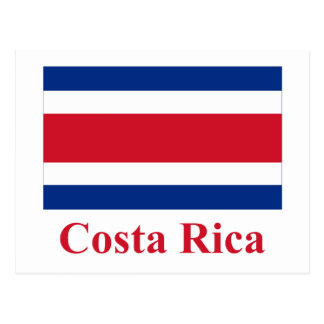 Costa Rica Civil Flag with Name Post Card