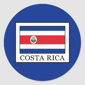 Costa Rica Classic Round Sticker