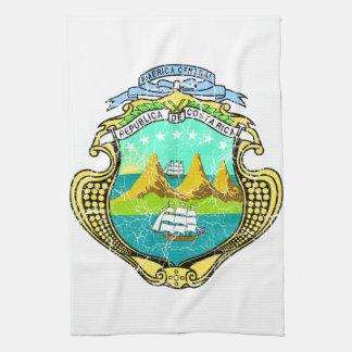 Costa Rica Coat Of Arms Tea Towel