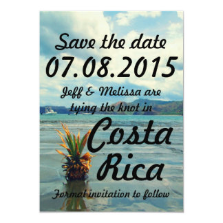 Costa Rica Destination Wedding Save The Date Card