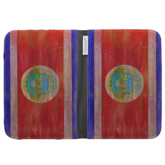 Costa Rica distressed flag Kindle 3G Covers