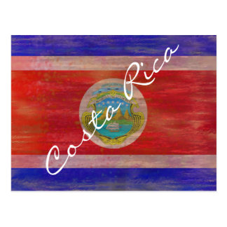 Costa Rica distressed flag Postcard