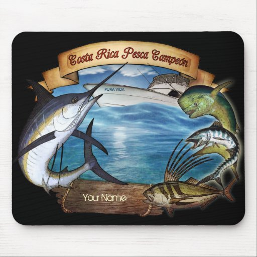Costa Rica Fishing Champion (your name) Mouse Pads