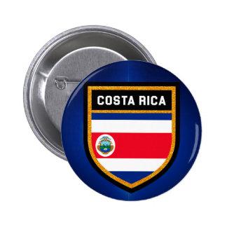 Costa Rica Flag 6 Cm Round Badge