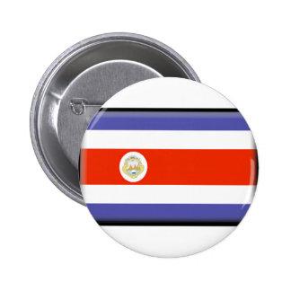 Costa Rica Flag Pinback Button