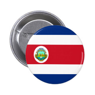 Costa Rica Flag 6 Cm Round Badge