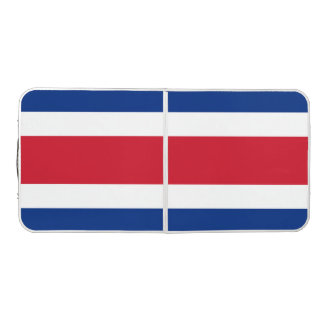 Costa Rica Flag Beer Pong Table