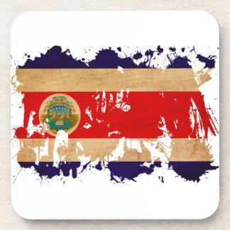Costa Rica Flag Beverage Coaster