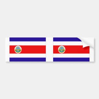 Costa Rica flag Bumper Stickers