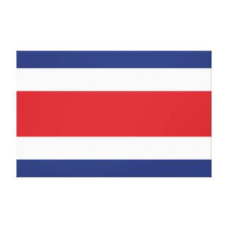 Costa Rica Flag Canvas Print