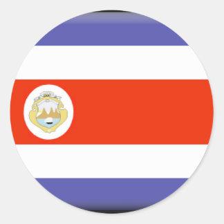 Costa Rica Flag Classic Round Sticker