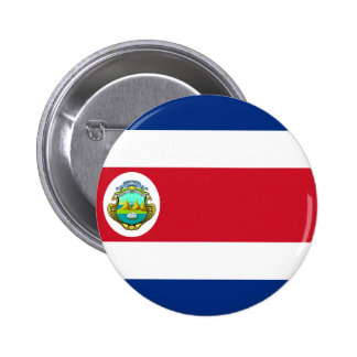 Costa Rica Flag CR 6 Cm Round Badge