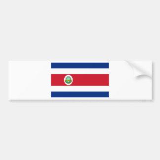 Costa Rica Flag CR Bumper Sticker