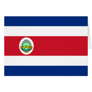 Costa Rica Flag CR Greeting Card