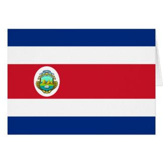 Costa Rica Flag CR Greeting Card
