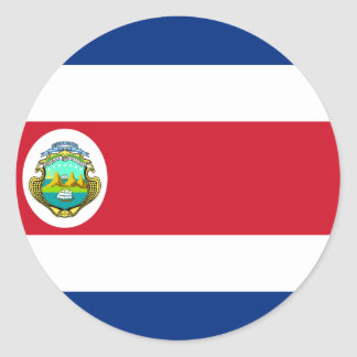 Costa Rica Flag CR Round Sticker