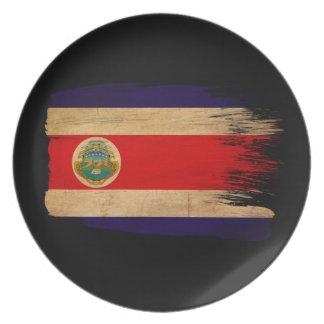 Costa Rica Flag Dinner Plates