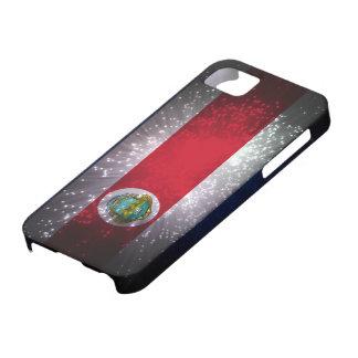 Costa Rica Flag Firework iPhone 5 Cover