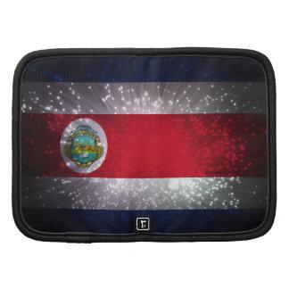Costa Rica Flag Firework Folio Planner