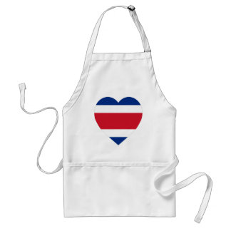 Costa Rica Flag Heart Aprons