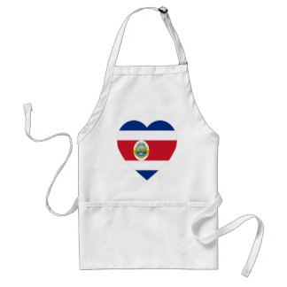 Costa Rica Flag Heart Apron
